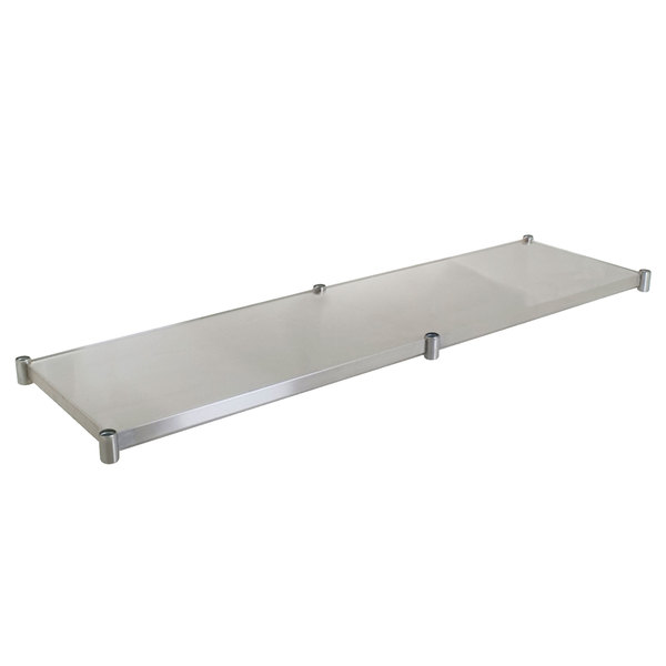 "Eagle Group 30120SADJUS-18/3 Adjustable Stainless Steel Work Table Undershelf for 30"" x 120"" Tables"