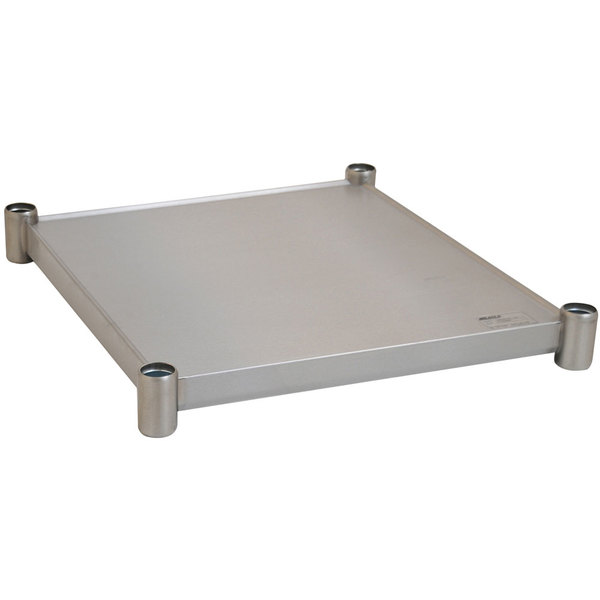 "Eagle Group 3024SADJUS-18/4 Adjustable Stainless Steel Work Table Undershelf for 30"" x 24"" Tables Main Image 1"