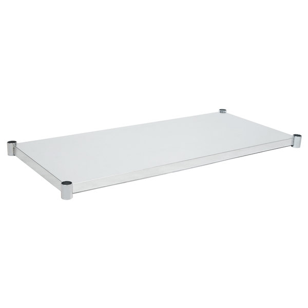 "Eagle Group 3060SADJUS-18/4 Adjustable Stainless Steel Work Table Undershelf for 30"" x 60"" Tables"