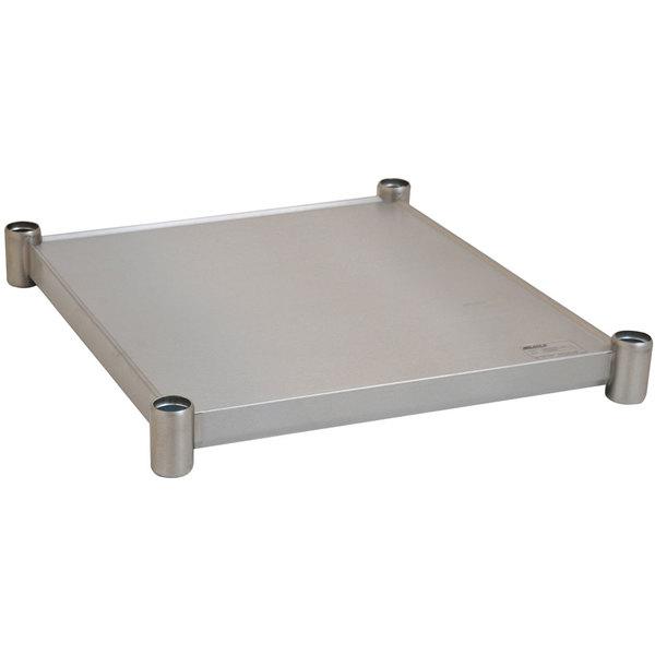 "Eagle Group 3024SADJUS-18/3 Adjustable Stainless Steel Work Table Undershelf for 30"" x 24"" Tables"