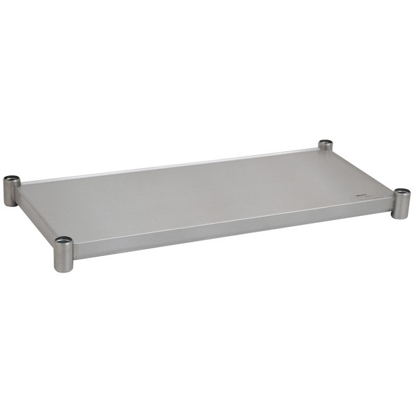 "Eagle Group 2460SADJUS-18/4 Adjustable Stainless Steel Work Table Undershelf for 24"" x 60"" Tables Main Image 1"