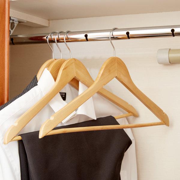 Open Swivel Hook Maple Wood Hangers - 12/Pack