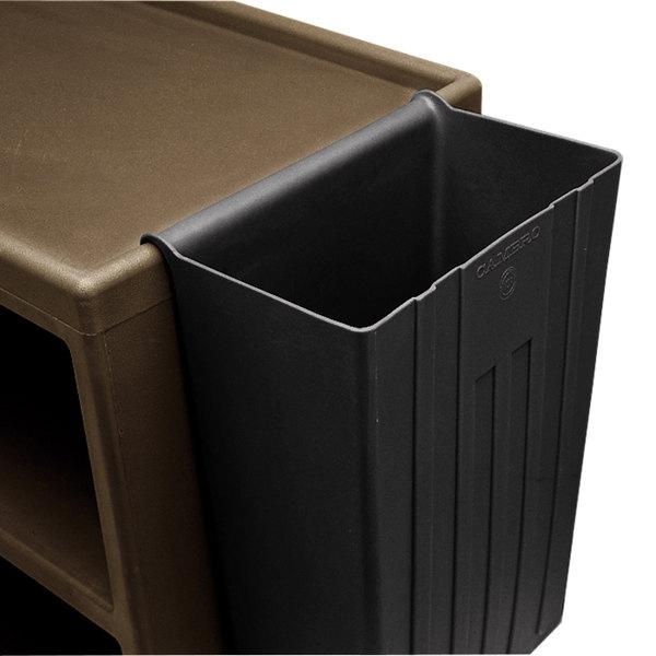 Cambro BC11TC110 Black 11 Gallon Trash Container for Service Carts Main Image 1