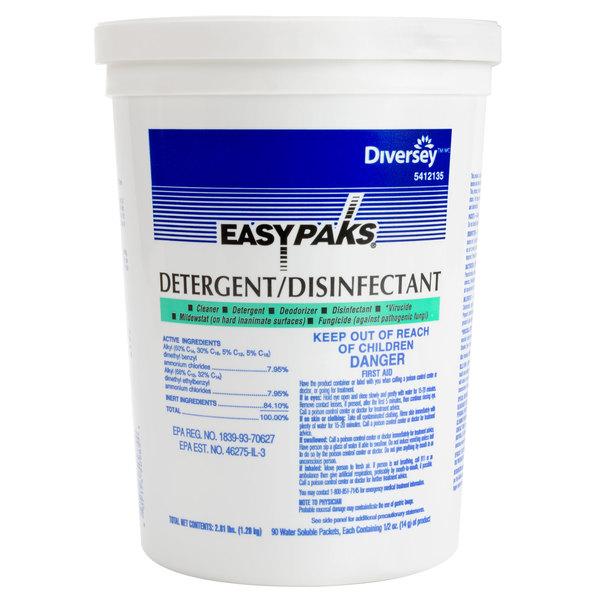 Diversey 5412135 Easy Paks 0.5 oz. Detergent / Disinfectant Packet - 90/Case