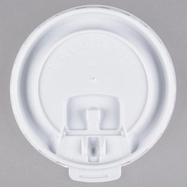 Dart Solo DLX8R-00007 8 oz. White Liftback and Lock Tab Lid - 2000/Case