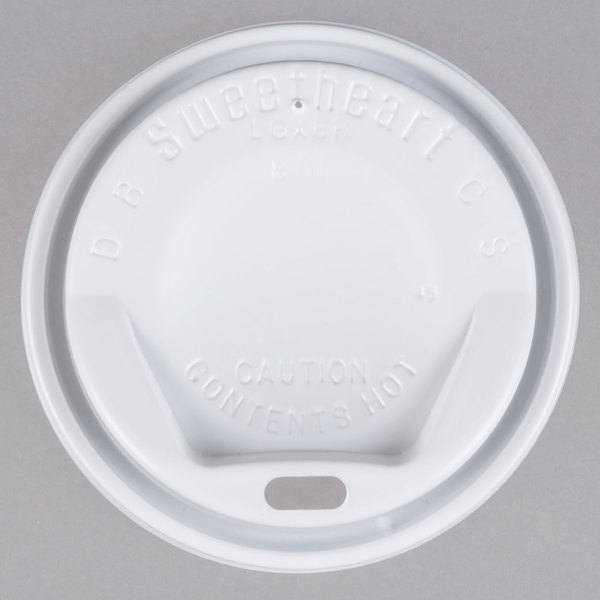 Solo LGX8R1-0007 8 oz. White Dome Sip-Thru Hot Cup Lid - 1000/Case Main Image 1