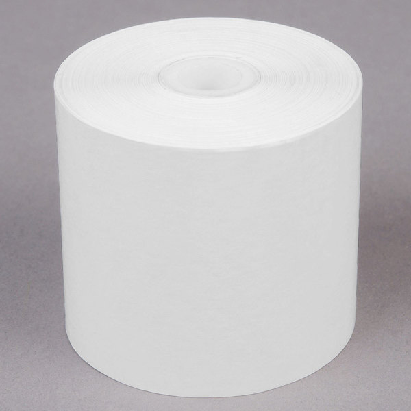 2 1/4 inch x 200' Thermal Cash Register POS Paper Roll Tape - 10/Pack