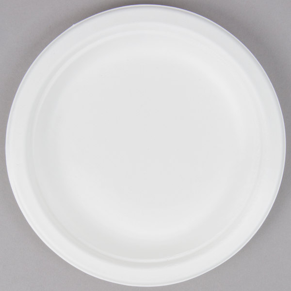 EcoChoice Biodegradable, Compostable Sugarcane / Bagasse 6 inch Plate - 1000/Case