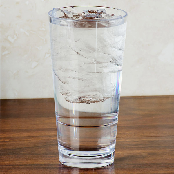 GET S-18-CL Revo 20 oz. Customizable SAN Plastic Stackable Mixing Glass - 24/Case Main Image 2