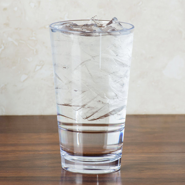 GET S-17-CL Revo 16 oz. Customizable SAN Plastic Stackable Mixing / Pint Glass - 24/Case Main Image 2