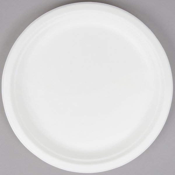 EcoChoice Biodegradable, Compostable Sugarcane / Bagasse 10 inch Plate - 125/Pack