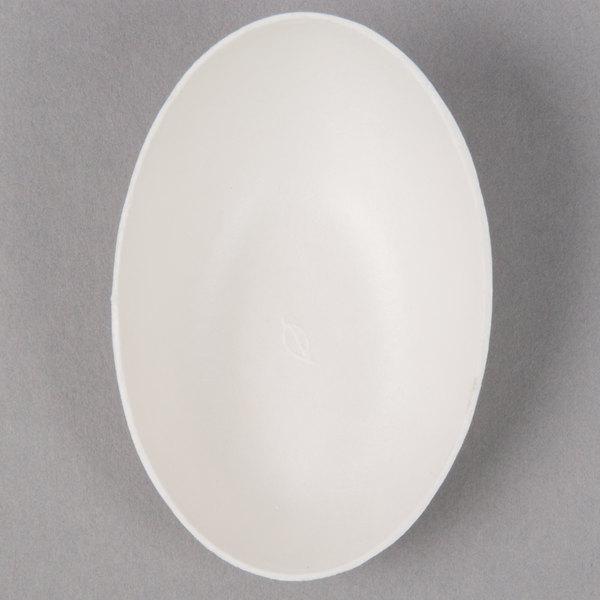 EcoChoice Biodegradable, Compostable Sugarcane / Bagasse 1 oz. Appetizer Bowl - 25/Pack