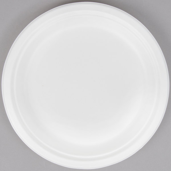 EcoChoice Biodegradable, Compostable Sugarcane / Bagasse 9 inch Plate - 125/Pack