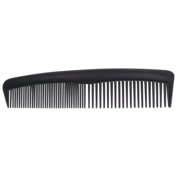"4 5/8"" Black Comb Individually-Wrapped in Poly Bag - 144/Box"