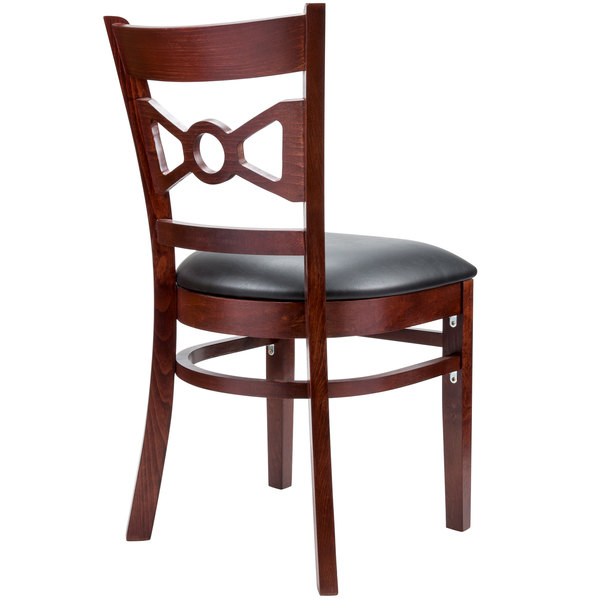 Lancaster Table Amp Seating Mahogany Bow Tie Back Chair With