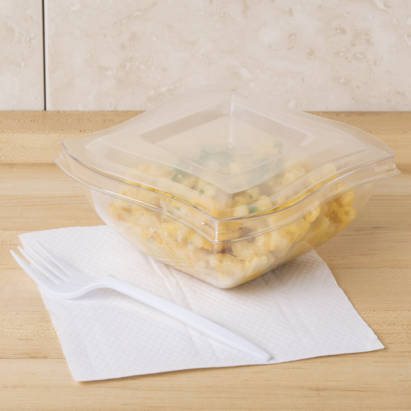 Fineline 116-L Wavetrends / Tiny Temptations Clear Lid for 16 oz. Wavetrends / Tiny Temptations Bowl - 100/Case Main Image 6