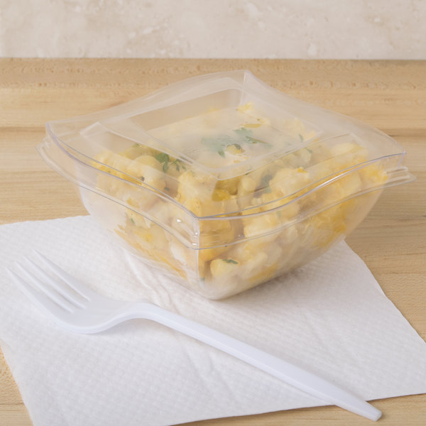 Fineline 180-L Wavetrends / Tiny Temptations Clear Lid for 8 oz. Wavetrends / Tiny Temptations Bowl - 100/Case Main Image 9
