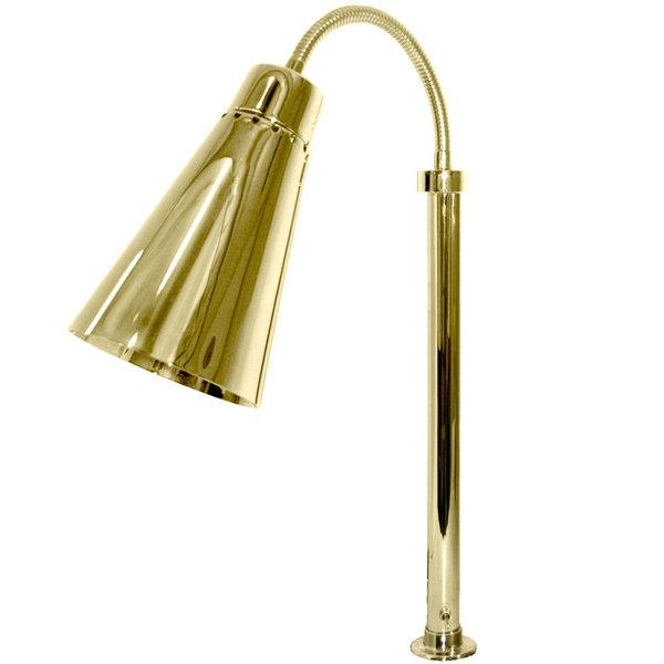 Hanson Heat Lamps SL/FM/ST/900/BR Brass Flexible Streamline Single Bulb Heat Lamp Main Image 1