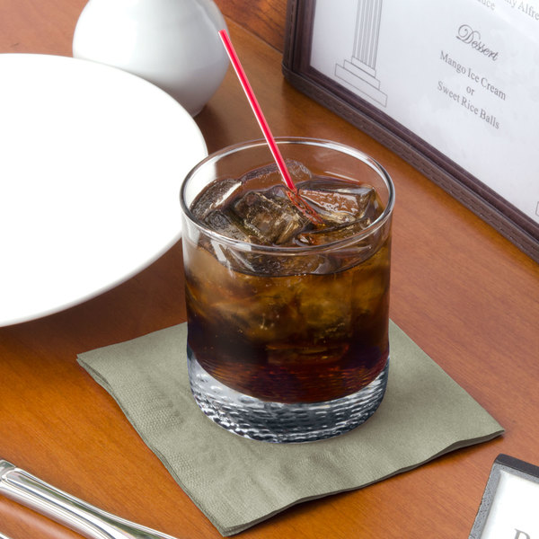 "Choice 10"" x 10"" Customizable Sage 2-Ply Customizable Beverage / Cocktail Napkins - 1000/Case"