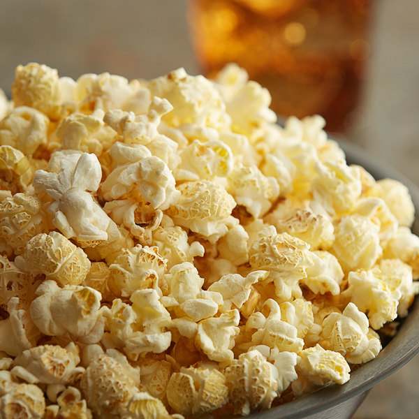 Popped mushroom popcorn in a bowl