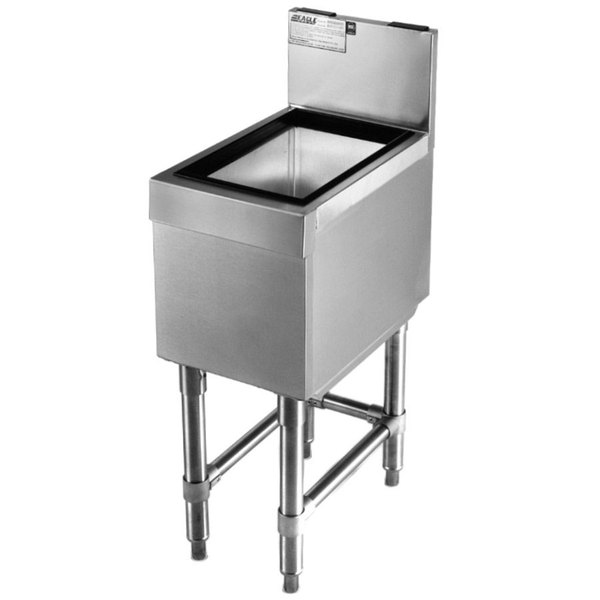 "Eagle Group B30IC-19 Spec-Bar 19"" x 30"" Stainless Steel Ice Chest Main Image 1"