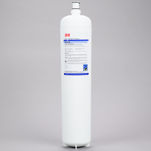 3M Water Filtration Products HF90-S Replacement Cartridge for ICE190-S Water Filtration System - 0.2 Micron and 5 GPM