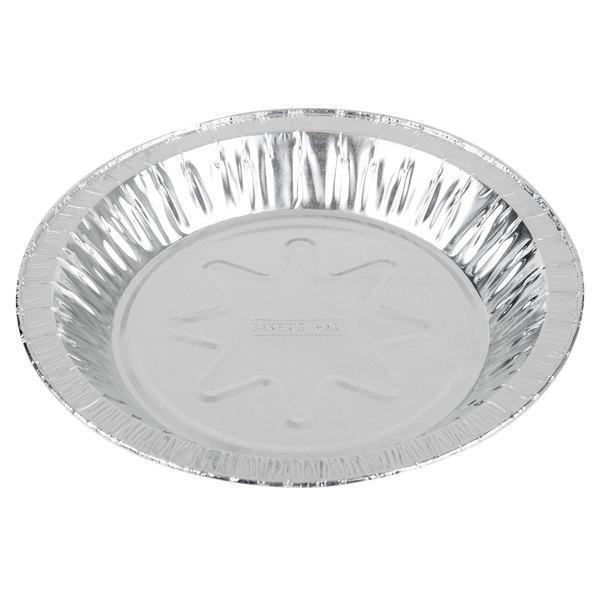 Baker's Mark 7 15/16 inch x 1 1/8 inch Deep Foil Pie Pan - 100/Pack