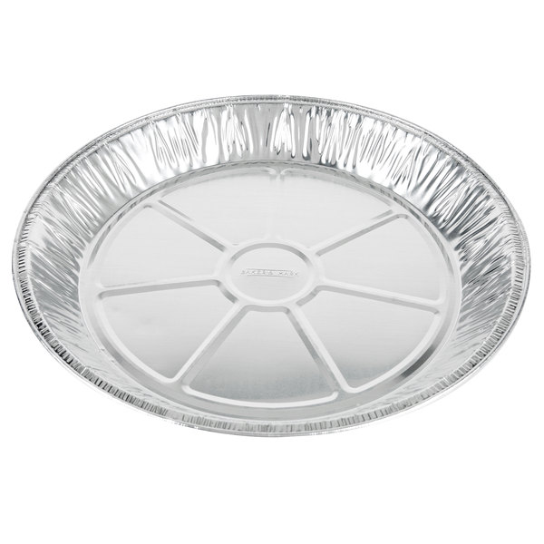 Baker's Mark 12 inch x 1 3/8 inch Extra Deep Foil Pie Pan - 100/Pack
