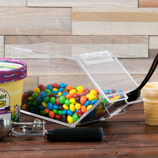 "Cal-Mil 492-H Classic Stackable Topping Dispenser with Holster - 4 1/2"" x 11"" x 5 1/2"" Main Image 7"