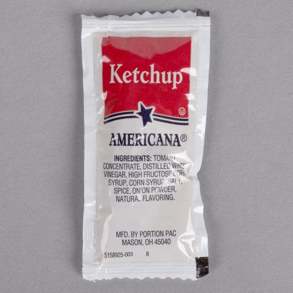 Americana Ketchup 9 Gram Portion Packet  - 500/Case