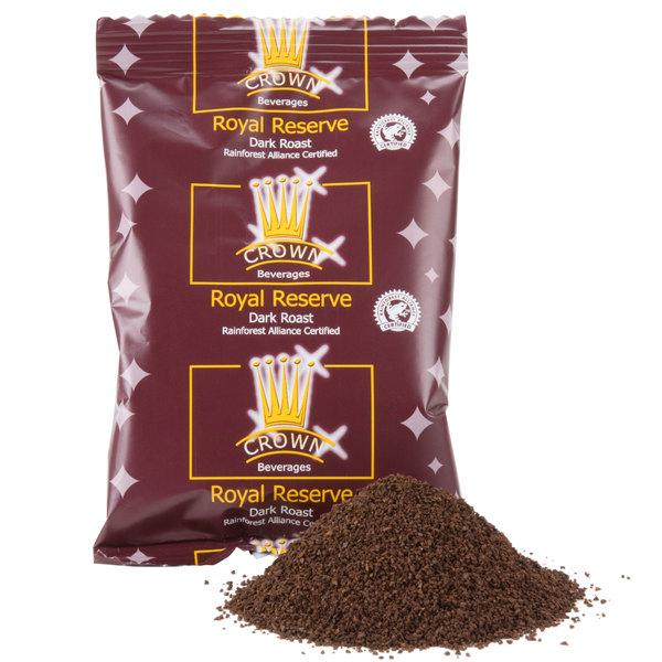 Crown Beverages Royal Reserve Guatemalan Dark Roast - (24) 3 oz. Packets / Case