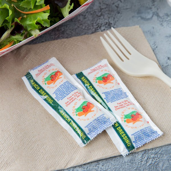 Ranch Dressing 12 Gram Portion Packets - 200/Case Main Image 5