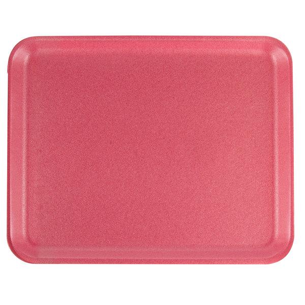 CKF 88068 (#38/8S) Rose Foam Meat Tray 10 inch x 8 inch x 1/2 inch - 500/Case