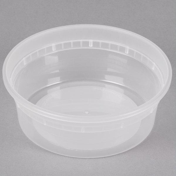 8 oz. Microwavable Translucent Plastic Deli Container - 480/Case