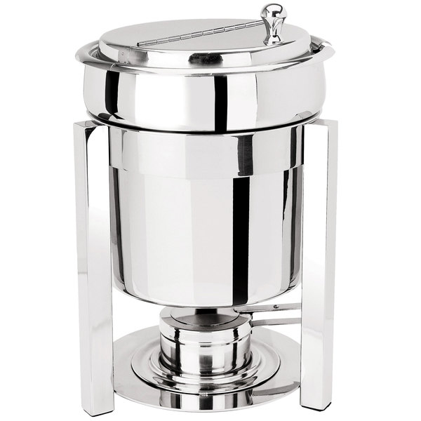 Eastern Tabletop 3107P2 P2 7 Qt. Stainless Steel Sauce / Soup Marmite with Hinged Lid