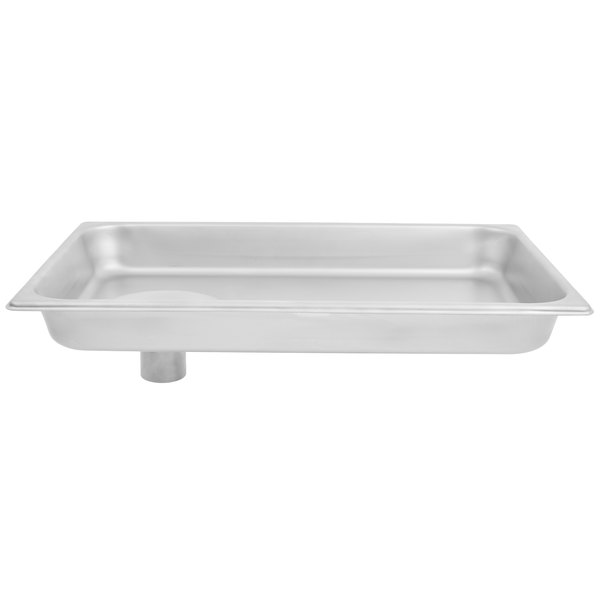 Hobart 12/22PN-SST Stainless Steel Rectangular Feed Pan for #12 and #22 Hobart Meat Grinder / Chopper