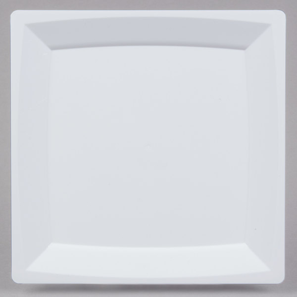 WNA Comet MS75W 6 3/4 inch White Square Milan Plastic Salad Plate - 12/Pack