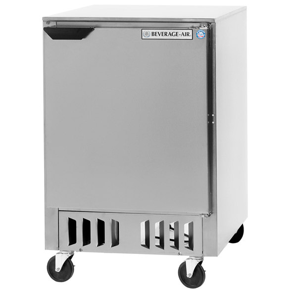 "Beverage Air WTF24AHC-FB 24"" Undercounter Freezer - 5 Cu. Ft."