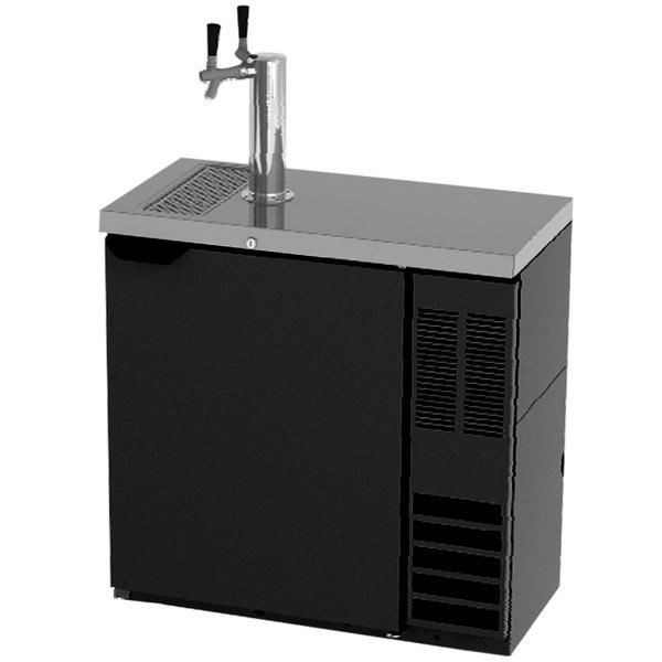 Beverage-Air DD36HC-SLM-1-B Double Tap Kegerator Beer Dispenser, Slim - Black, (2) 1/4 Keg Capacity