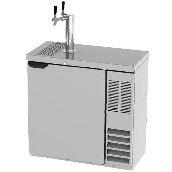 Beverage-Air DD36HC-SLM-1-S Double Tap Kegerator Beer Dispenser, Slim - Stainless Steel, (2) 1/4 Keg Capacity