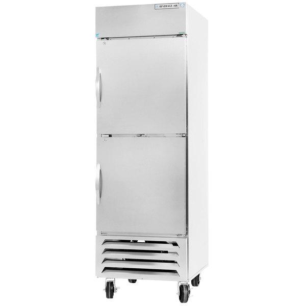 "Beverage-Air HBF23-1-HS 27"" Bottom Mount Horizon Series One Section Half Door Reach In Freezer with LED Lighting"