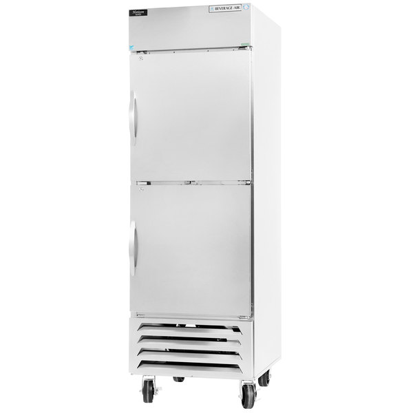 "Beverage-Air HBF23-1-HS 27"" Bottom Mount Horizon Series One Section Half Door Reach In Freezer with LED Lighting"