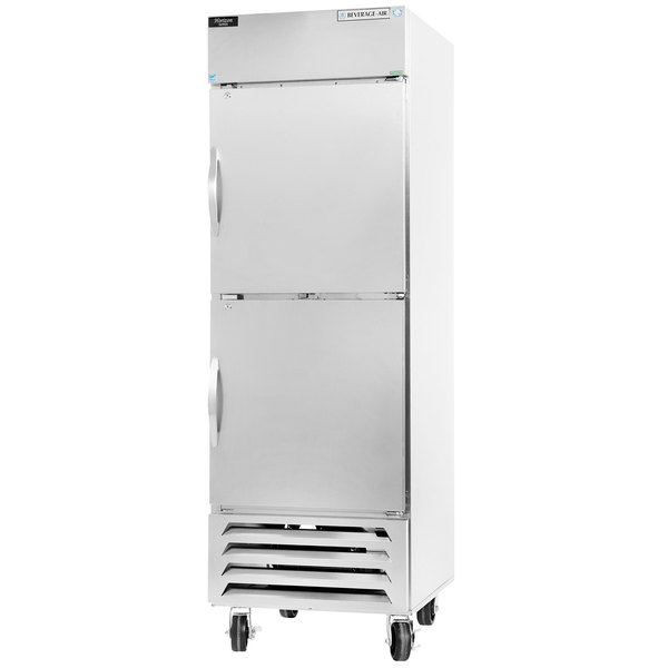 """Beverage-Air HBR27-1-HS 30"""" Bottom Mount Horizon Series One Section Half Door Reach In Refrigerator with LED Lighting"""