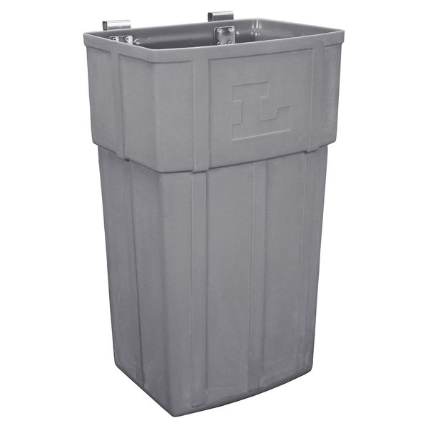 "Lakeside 206 Gray 11 1/4"" x 14 3/8"" x 26"" Jumbo Waste Box"