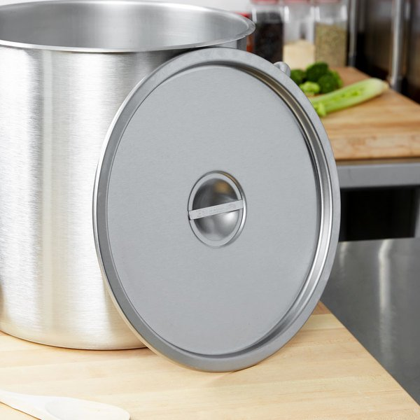 """Vollrath 78672 13 1/8"""" Stainless Steel Stock Pot Cover"""