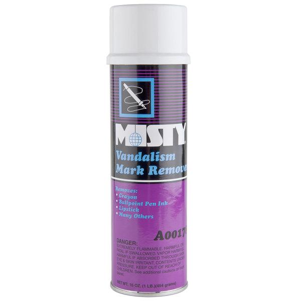 Amrep / Misty Vandalism Mark Remover - Aerosol 1 Pint / 16 oz. (AMR A178) - 12/Case