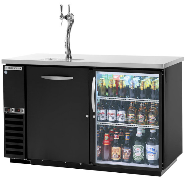 Beverage Air Dz58g 1 B 1 Led Double Tap Dual Zone Kegerator Beer