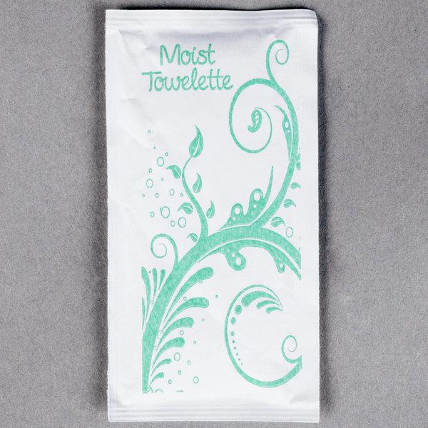 """8"""" x 11"""" Extra Large Lemon Scented Moist Towelette / Wet Nap - 500/Case"""