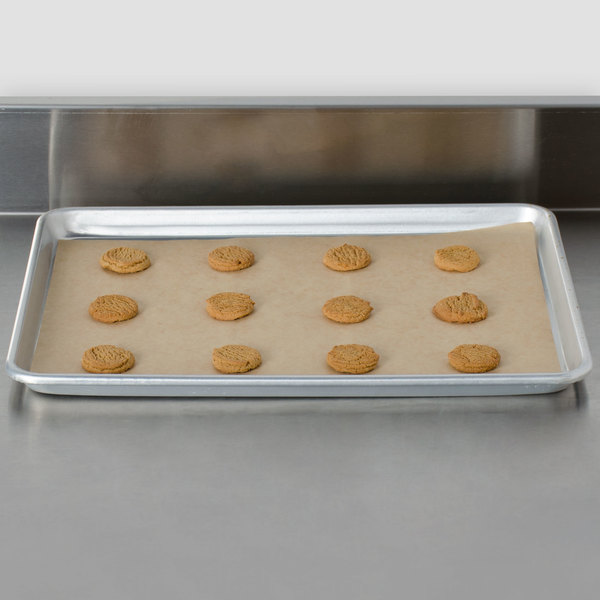 "Bagcraft Packaging 030008 EcoCraft Bake 'N' Reuse 12"" x 16"" Half Size Parchment Paper Pan Liner - 1000/Case Main Image 3"