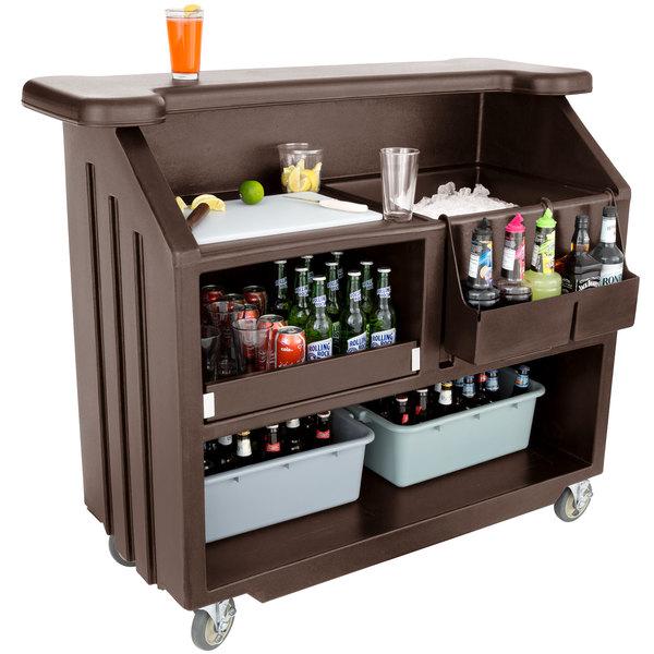 Cambro Bar540131 Cambar Dark Brown 54 Quot Portable Bar With 5